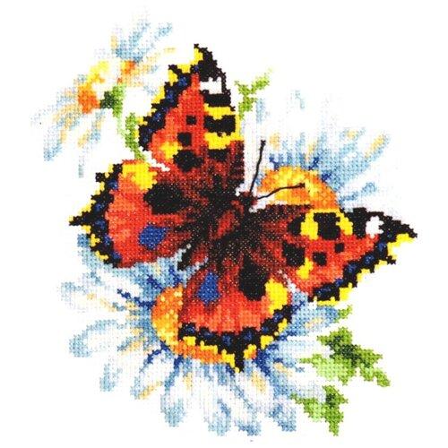 Чудесная Игла Набор для вышивания Бабочка и ромашки 17 х 18 см, (42-11)