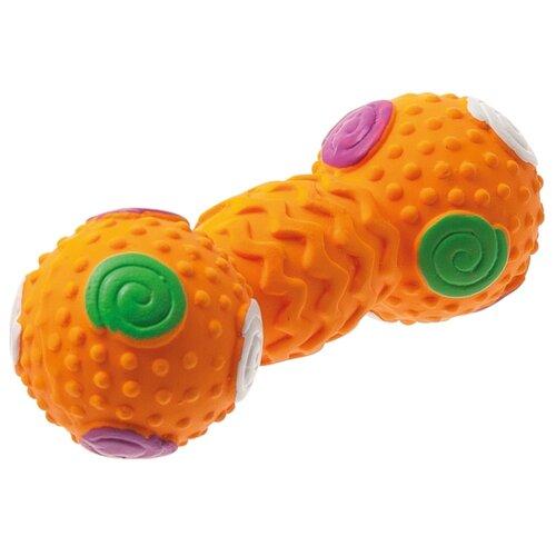 Гантель для собак ZooOne L-419 с шипами 11 см оранжевый