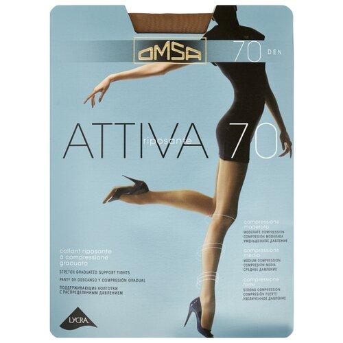 Фото - Колготки Omsa Attiva 70 den, размер 2-S, daino (коричневый) колготки omsa attiva с поддерживающими шортиками 70 den daino р 5