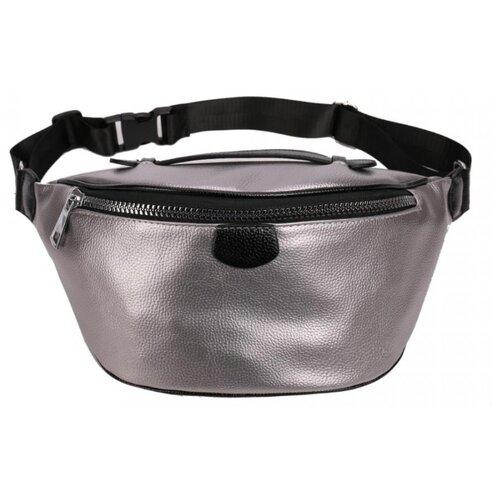 Сумка поясная OrsOro, искусственная кожа, платина сумка тоут orsoro cw 967