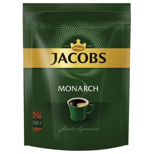 Кофе растворимый Jacobs Monarch, пакет, 38 г