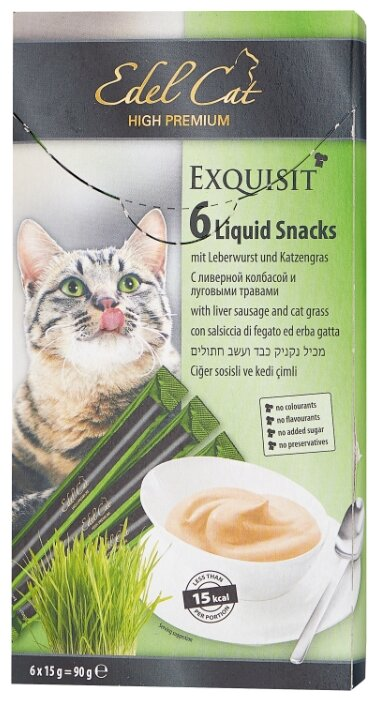 Лакомство для кошек Edel Cat Крем-суп с ливерной колбасой и луговыми травами