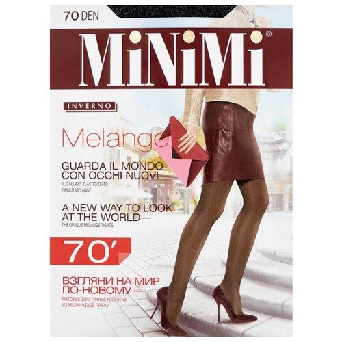 Колготки MiNiMi Melange 70 den, размер 2-S/M, grigio melange (серый) фото