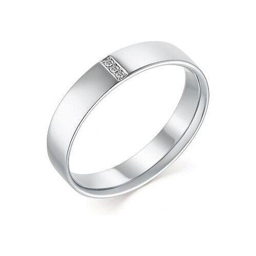 АЛЬКОР Кольцо с 6 бриллиантами из белого золота 13428-213, размер 19.5 алькор кольцо с 6 бриллиантами из красного золота 13428 113 размер 15 5