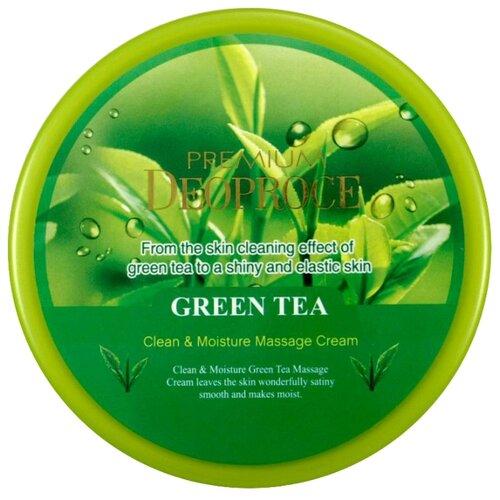 Deoproce крем очищающий для лица Premium с экстрактом зеленого чая, 300 мл себолосьон очищающий premium цена