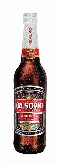 Пиво безалкогольное темное Krusovice Cerne 0.5 л