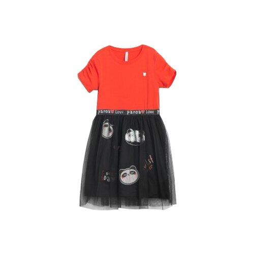 Платье COCCODRILLO размер 104, красный/черный