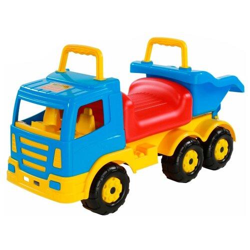 Купить Каталка-толокар Полесье Премиум-2 (67142) голубой/красный/желтый, Каталки и качалки