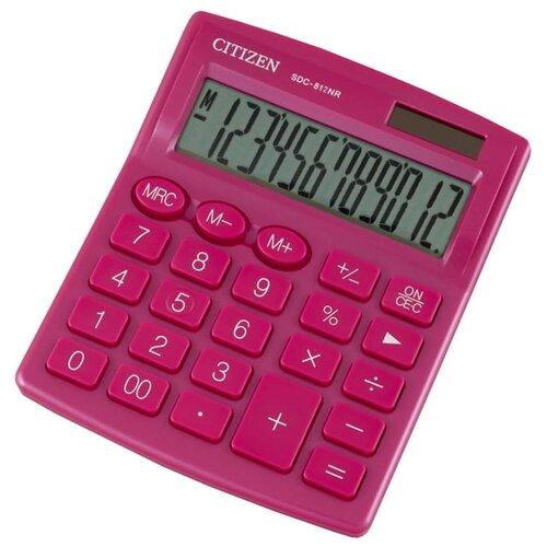 Калькулятор бухгалтерский CITIZEN SDC-812NR розовый