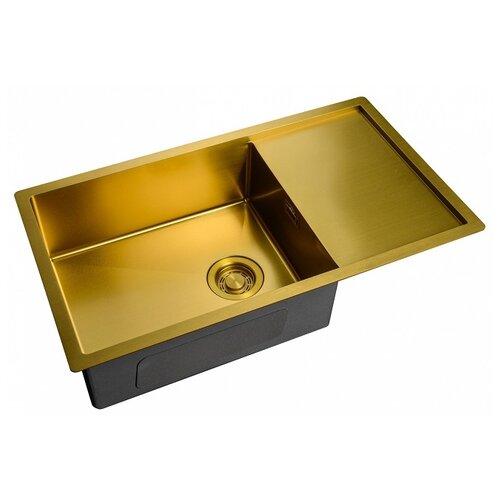 Фото - Врезная кухонная мойка 78 см ZorG ZL R 780440 BRONZE Бронза PVD покрытие врезная кухонная мойка 78 см zorg szr 78 2 51 r bronze бронза