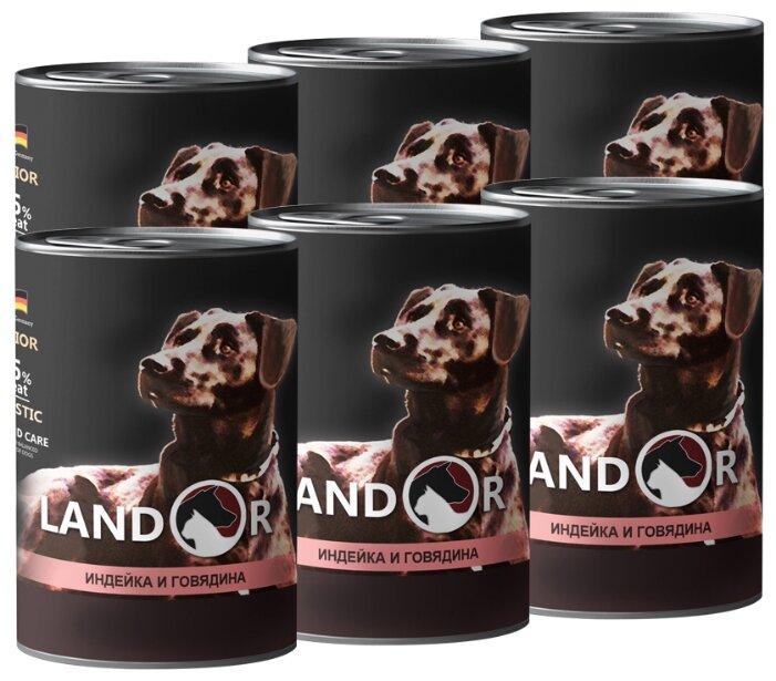 Корм для собак Landor Puppy All Breed Turkey and Beef для щенков (банка)
