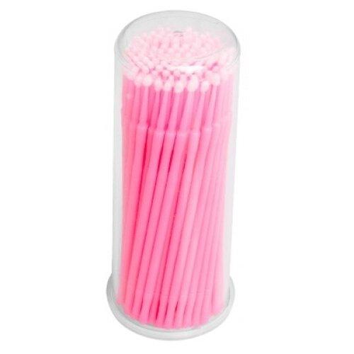 Irisk Professional Микрощеточки в баночке, L, 90-100 шт. розовый