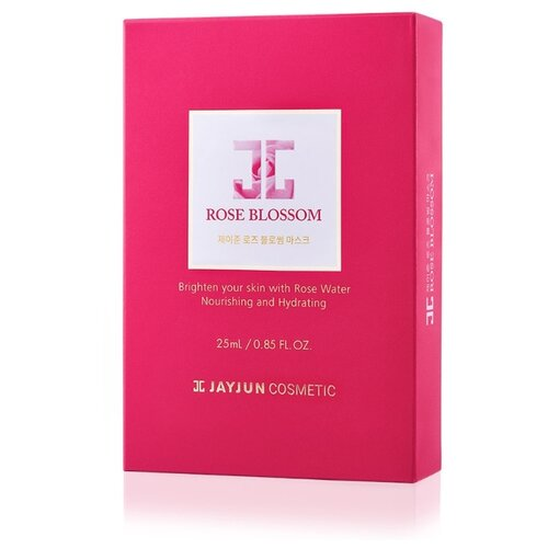 JAYJUN COSMETIC тканевая маска Rose Blossom с розовой водой, гиалуроновой кислотой и аллантоином, 250 мл, 10 шт. jayjun cosmetic тканевая маска purple fragrance на основе растительных экстрактов 250 мл 10 шт