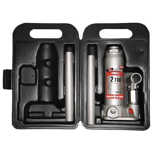 Домкрат бутылочный гидравлический matrix 50750 (2 т) стальной