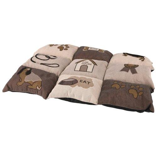 Подстилка-плед для собак TRIXIE Patchwork 55х40 см коричневый подстилка плед для собак и кошек trixie охлаждающая 50х40 см серый белый