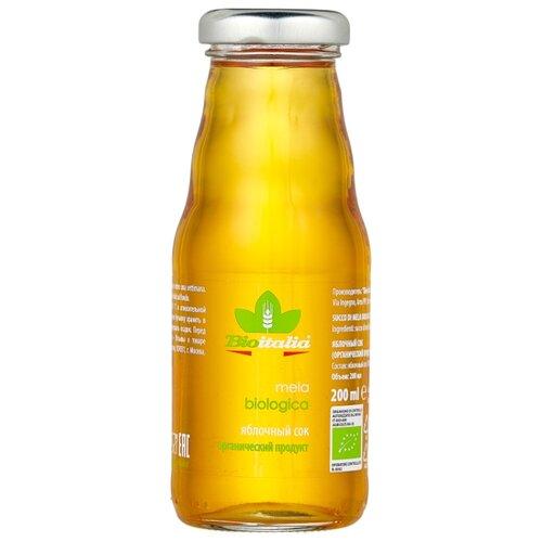 Сок Bioitalia Яблочный, без сахара, 0.2 л noyan яблочный сок premium 200 мл