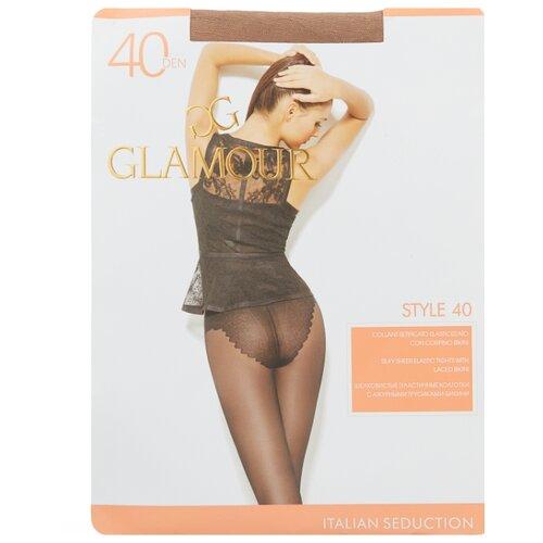 Колготки Glamour Style 40 den, размер 5-XL, miele (бежевый) колготки glamour prestige 40 miele