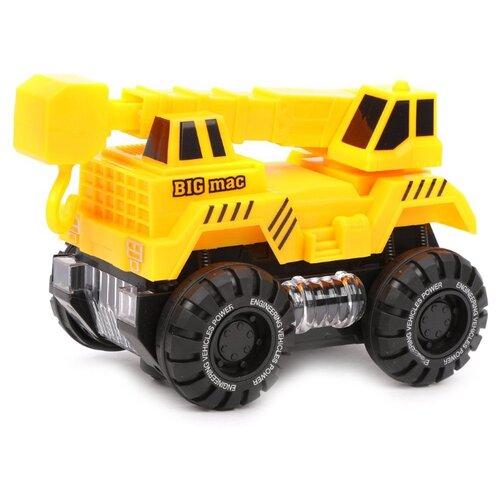 Купить Автокран BiLe Jia YY615-3 17 см желтый, Машинки и техника