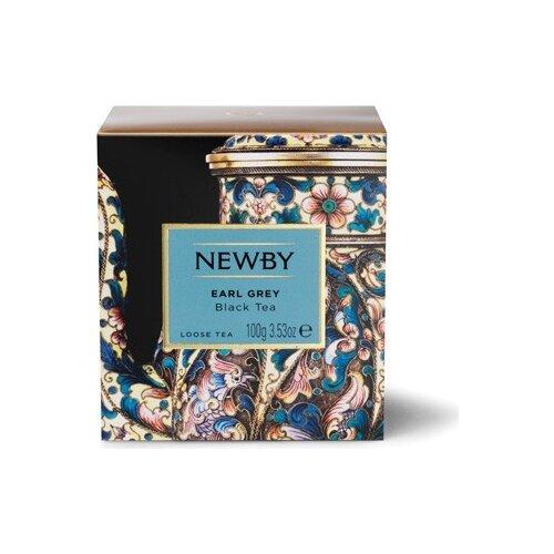 Чай черный Newby Earl Grey листовой, 100 г майский чайная матрешка синяя черный листовой чай 30 г