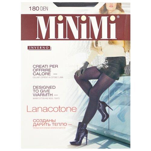 Колготки MiNiMi Lanacotone 180 den, размер 3-M, nero (черный) колготки minimi lanacotone 180 den размер 2 s m fumo серый