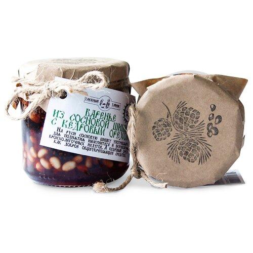 Варенье из сосновых шишек с кедровым орехом Таёжный Тайник, банка 240 г фото