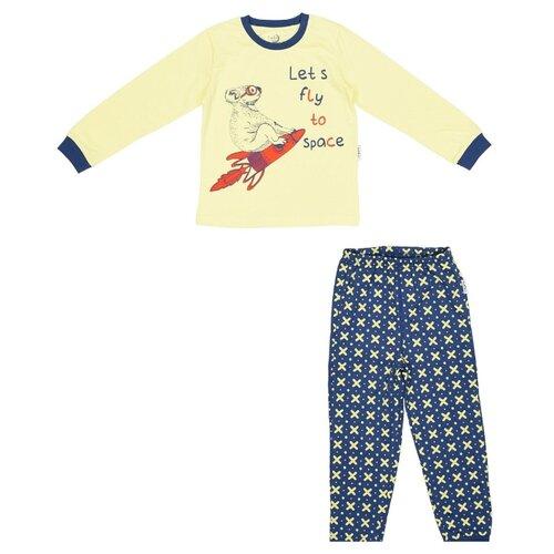 Купить Пижама RuZ Kids размер 122-128, желтый/синий, Домашняя одежда