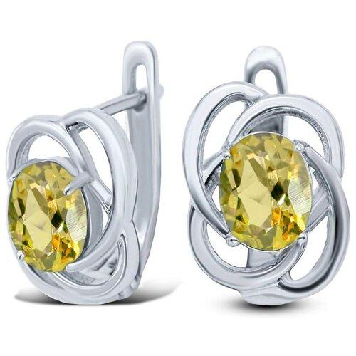 Silver WINGS Серьги с цитринами из серебра 22eeafa00918-19