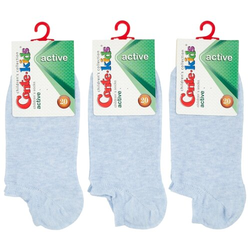Купить Носки Conte-kids комплект 3 пары размер 20, светло-голубой