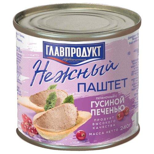 цена на Паштет Главпродукт Нежный печеночный с гусиной печенью 240 г