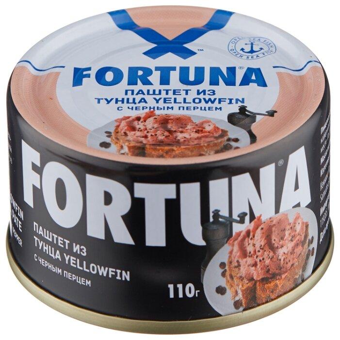Паштет Fortuna из тунца с черным перцем 110 г