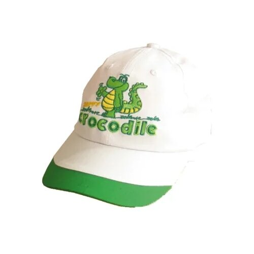 Купить Бейсболка Be Snazzy размер 46, белый/зеленый, Головные уборы