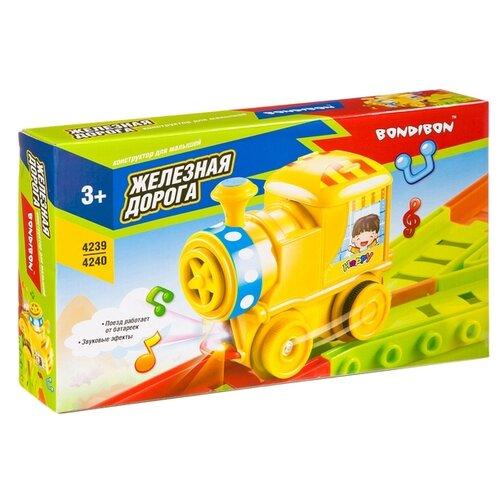 Купить Конструктор BONDIBON Для малышей ВВ4239 Железная дорога, Конструкторы