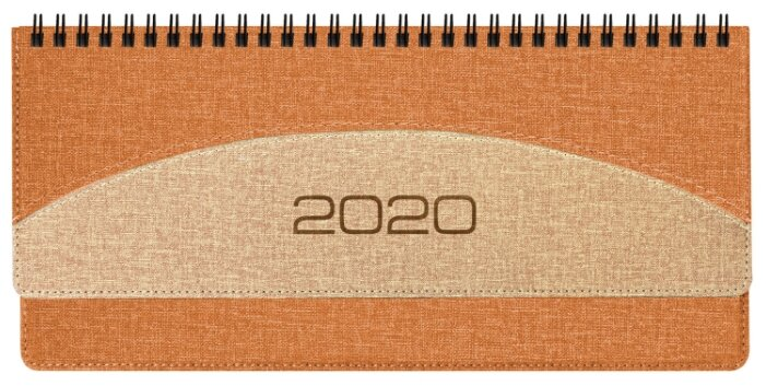 Ежедневник BRAUBERG SimplyNew 2020 год А5 оранжевый бежевый 129696