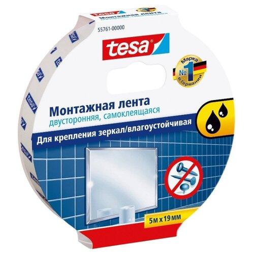 Фото - Клейкая лента монтажная Tesa 55761-00000, 19 мм x 5 м клейкая лента малярная tesa 55592 36 мм x 50 м