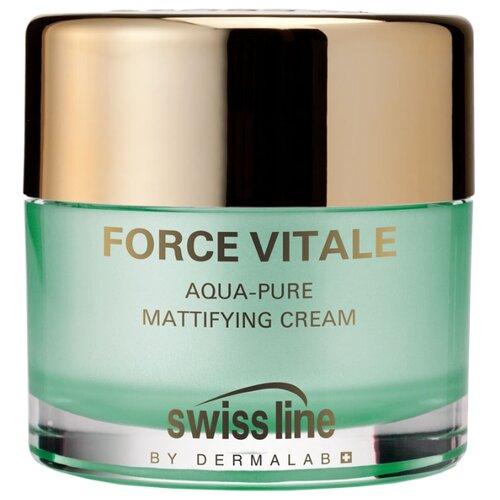 Swiss Line Force Vitale Aqua-Pure Mattifying Cream Крем для лица для смешанной и жирной кожи матирующий увлажняющий, 50 мл gernetic international special cream mixed and oil skins крем для смешанной и жирной кожи лица 50 мл