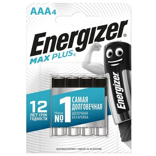 Фото - Батарейка Energizer Max Plus AAA, 4 шт. батарейки energizer max типа e91 aa 4 шт 3 1 в подарок energizer