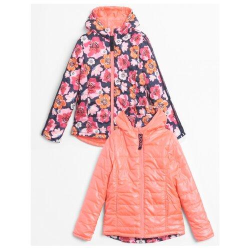 Куртка COCCODRILLO Prety in pink W20152501PRE размер 140, синий/коралловый/розовый куртка утепленная coccodrillo coccodrillo mp002xg00cze