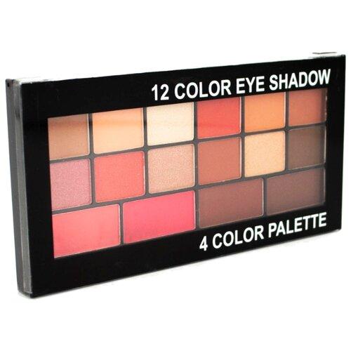 Romantic Color Палетка теней 12 Color Eye Shadow 4 Color Palette KS1710-A