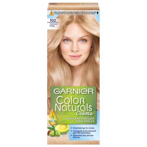GARNIER Color Naturals стойкая суперосветляющая крем-краска для волос, 102, Снежный БлондКраска<br>