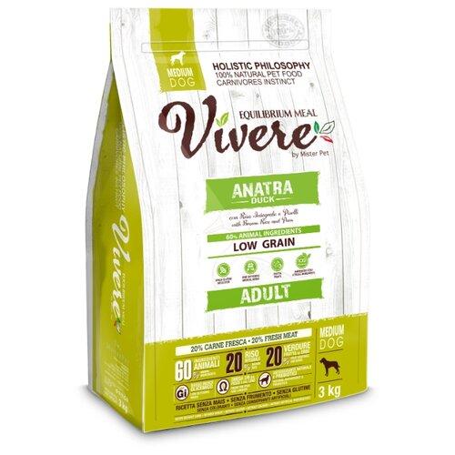 Сухой корм для собак Vivere утка 3 кг (для средних пород)