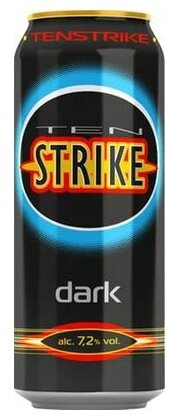 Слабоалкогольный напиток тонизирующий Ten Strike Dark 0.45 л