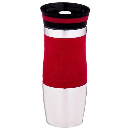 Термокружка Agness 709 (0,38 л) стальной/красный термокружка agness 380 мл 709 065