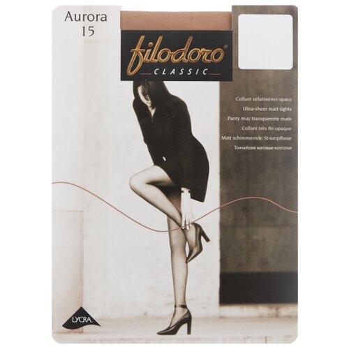 Фото - Колготки Filodoro Classic Aurora, 15 den, размер 4-L, playa (бежевый) колготки filodoro classic ok shape 40 den размер 4 l playa бежевый