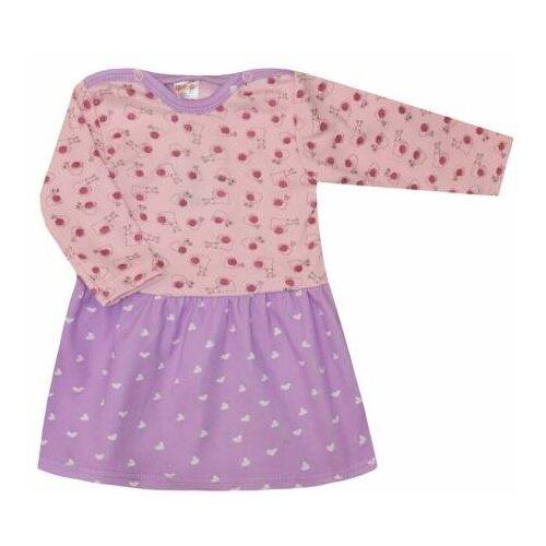 Платье KotMarKot размер 74, розовый/фиолетовый
