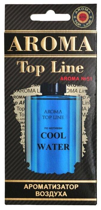 AROMA TOP LINE Ароматизатор для автомобиля Aroma №51 Davidoff Cool Water 14 г