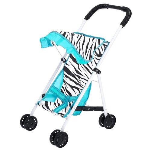Прогулочная коляска S+S Toys Like in life 200100602 мятный/зебра коляска прогулочная capella s 803wf сибирь лайм gl000984336