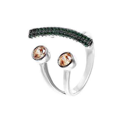 JV Кольцо с фианитами из серебра R27288-W3-KO-001-WG, размер 17.5 jv кольцо с фианитами из серебра r27103 w3 ko 001 wg размер 16 5