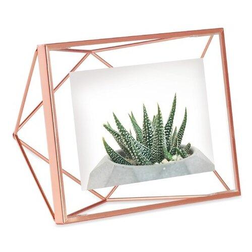 Фоторамка Umbra Prisma 10x15 см медь декор для стен prisma медь