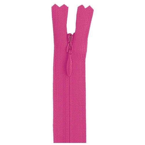 Купить YKK Молния потайная неразъемная 0004715/60, 60 см, розовый/розовый, Молнии и замки