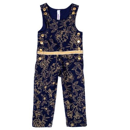 Купить Полукомбинезон playToday Сверкающий шик 388117 размер 92, темно-синий/золотистый, Брюки и шорты